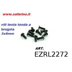 VITE FERRO TESTA CUPOLA  3,0 X  8 BRUGOLA NPD art. EZRL2272