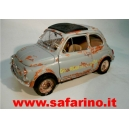 FIAT 500F GUARDIA di FINANZA ARRUGINITA SAFARI MODEL art. SAF572
