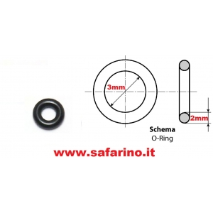 O RING  3,0mm X 7,0mm GUARNIZIONE VITE MINIMO CARBURATORE OPS  art. 62155