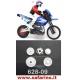 INGRANAGGI RICAMBIO MOTO R/C CROSS RAPTOREX 1/6 HIMOTO art. 628-09