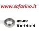 CUSCINETTO A SFERE  8 X 14 X  4 art. 89
