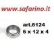 CUSCINETTO A SFERE  6 X 12 X 4 art. 6124