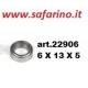 CUSCINETTO A SFERE  6 X 13 X 5 art. 22906