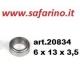 CUSCINETTO A SFERE  6 X 13 X 3,5 art. 20834