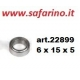 CUSCINETTO A SFERE  6 X 15 X 5 art. 22899