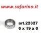 CUSCINETTO A SFERE  6 X 19 X 6 art. 22327