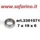 CUSCINETTO A SFERE  7 X 19 X 6 art. 3301071