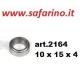 CUSCINETTO A SFERE 10 X 15 X 4  art. 2164