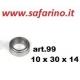 CUSCINETTO A SFERE 10 X 30 X 14 art. 99