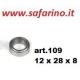 CUSCINETTO A SFERE 12 X 28 X 8  art. 109