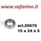 CUSCINETTO A SFERE 15 X 24 X 5 art. 20670