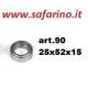 CUSCINETTO A SFERE 25 X 52 X 15 art. 90