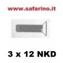VITE 3 X 12 NKD SVASATE  TRAXXAS  art. TXX2552