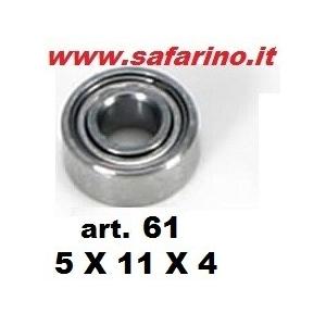 CUSCINETTO A SFERE  5  X 11 X 4 art. 61