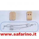 BOZZELLO LEGNO  2 FORI 3mm MAMOLI    art.MA7022