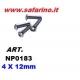 VITE FERRO TESTA A CUPOLA  4,0  X 12 NPD BRUGOLA   art. NP0183