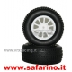 GOMME 1/10 RALLY  + CERCHI BIANCHI   art. 10350