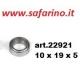 CUSCINETTO A SFERE 10 X 19 X 5 art. 22921