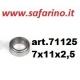 CUSCINETTO A SFERE  7 X 11 X 2,5  art. 71125