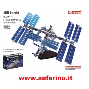 ISS WITH SPACE SHUTTLE  1/450 4D PUZZLE  art. 26382