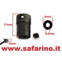 BICCHIERE 17mm FORO 2,5mm TESTA 6mm  art. 30109