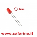 LED 3MM ROSSO 3V  art. LED24