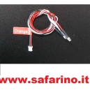 LED 3MM ARANCIO CON CAVO PER CENTRALINA EZPOWER art. EZRL1040