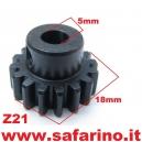 PIGNONE  Z21 MODULO 0,8 FERRO  art. P21