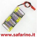 BATTERIA 4,80V  1600Mah IN LINEA JET'S art. BT4F